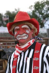 Rodeo Clown Mike Hayhurst of Barstow, CA
