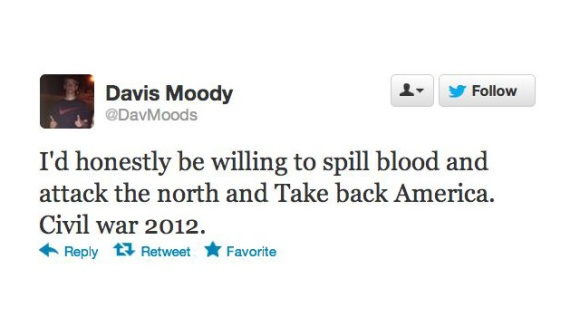 Racist Tweets - Presidential Election 2012