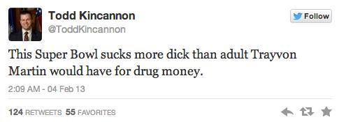 Todd Kincannon - Trayvon Martin Tweet